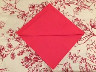 Christmas Tree Napkin Fold 7