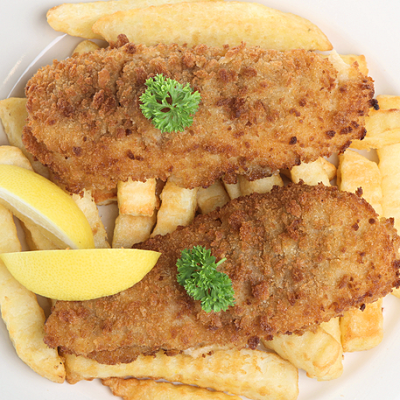 Breadcrumbed Cod and Chips with Healthy Happy Hearts