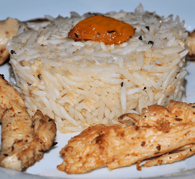 Greek Chicken Stir Fry with Chilli and Peppercorn Rice
