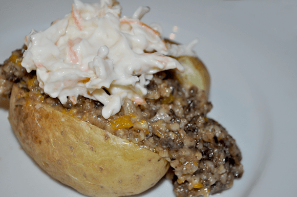 Haggis with Baked Potato