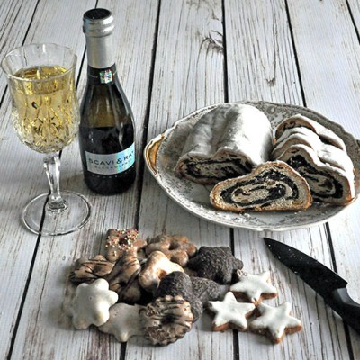Skavi & Ray Alkoholfrei Prosecco and Lush Bahlsen Christmas Goodies