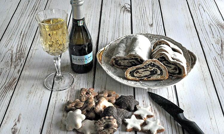 Skavi & Ray Alkoholfrei Prosecco and Lush Bahlsen Christmas Goodies