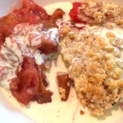 No Weigh Rhubarb Crumble Recipe