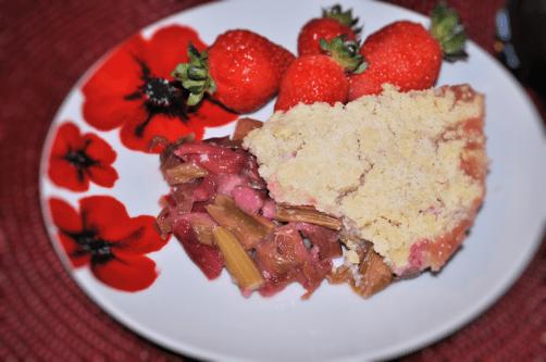 Rhubarb Crumble a