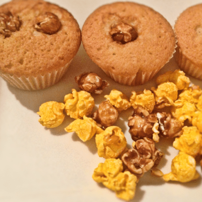Toffee Popcorn Cup Cake Recipe – withTruvia (Stevia)