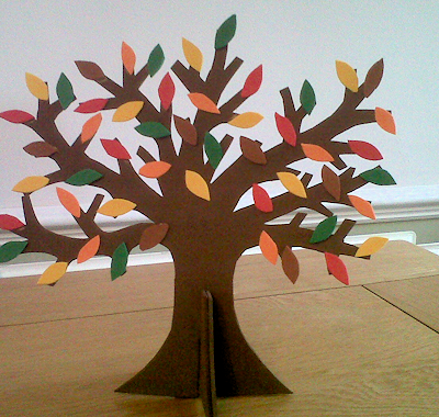 Guest Tutorial: Make a Colourful Autumn Tree Decoration