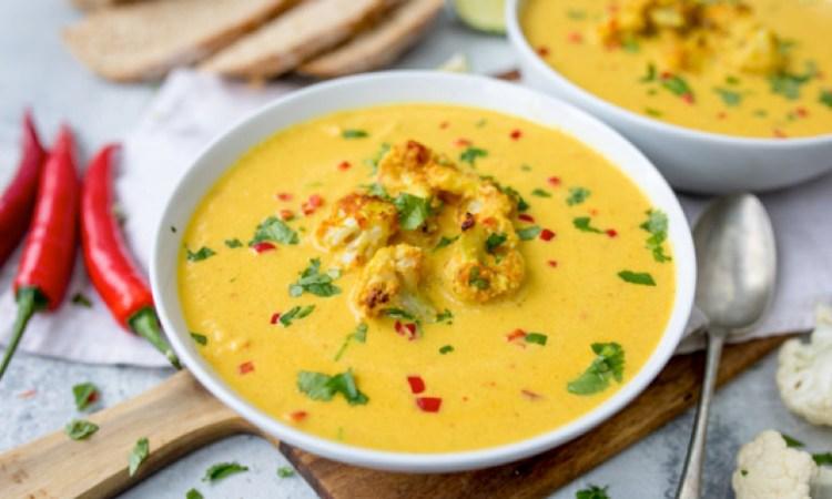 Spicy Thai Cauliflower Soup – Vegan Friendly