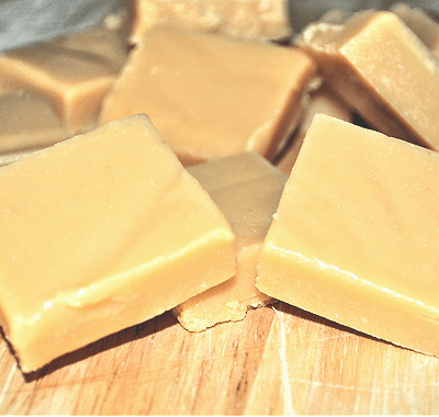 Scottish Tablet (crumbly, melt in the mouth toffee) in the microwave.