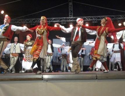 Traditional folk dancing in Kosovo