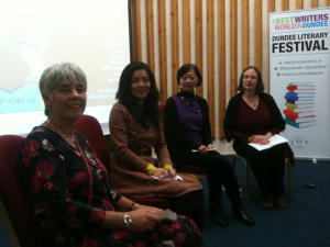 Photo of participants at Translation Slam, Literary Dundee, 2014