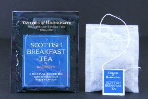 Taylors Scottish Breakfast individually wrapped tea bags.  Taylors makes these in a box of 20 tea bags that is $5.99.