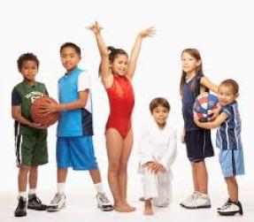 Happy child athletes