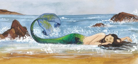 Mermaid Beach Painting crop. Scott Keenan, 2016