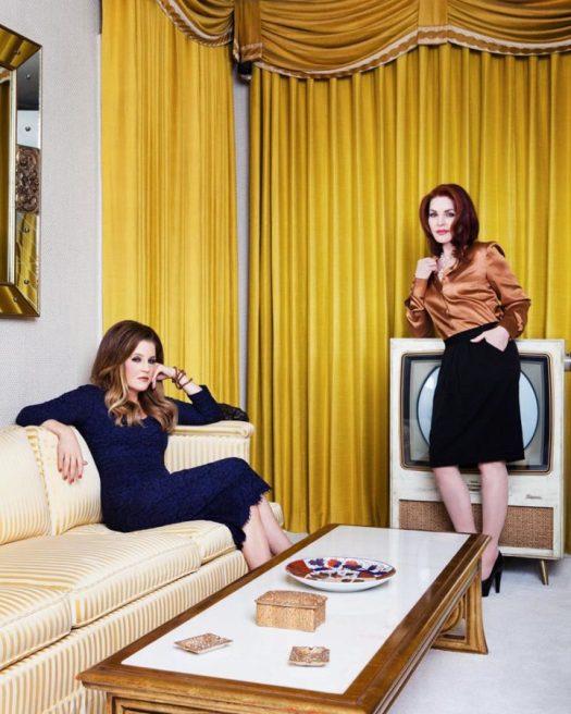 Lisa Marie and Priscilla Presley by Joseph Llanes