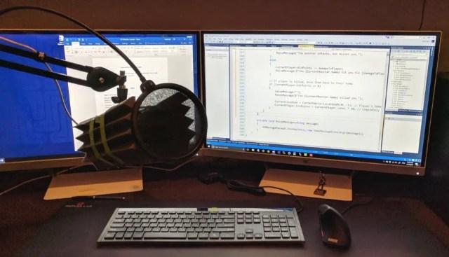 The setup I use for my screencast computer