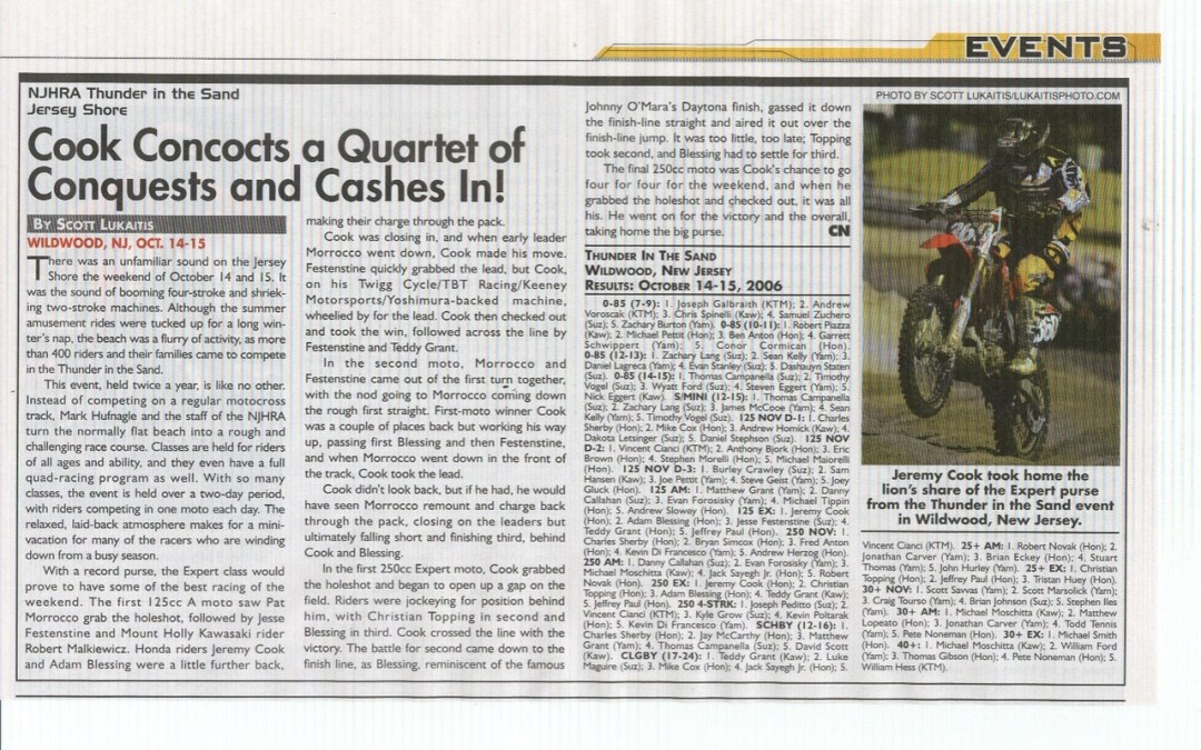 Published Content Flashback – Cycle News 2006