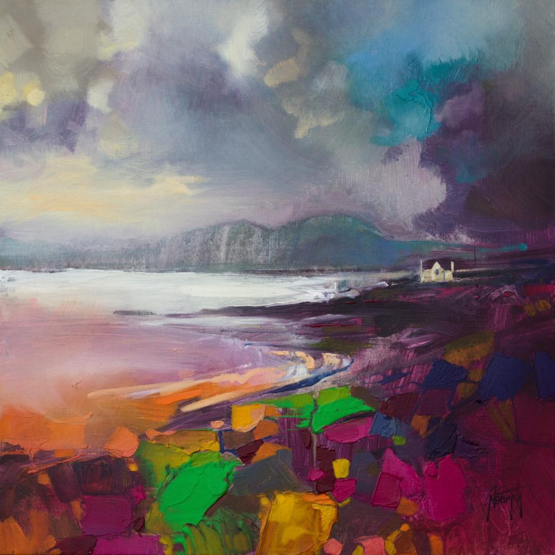 Broadford Shore Scottish landscape painting by Scott Naismith