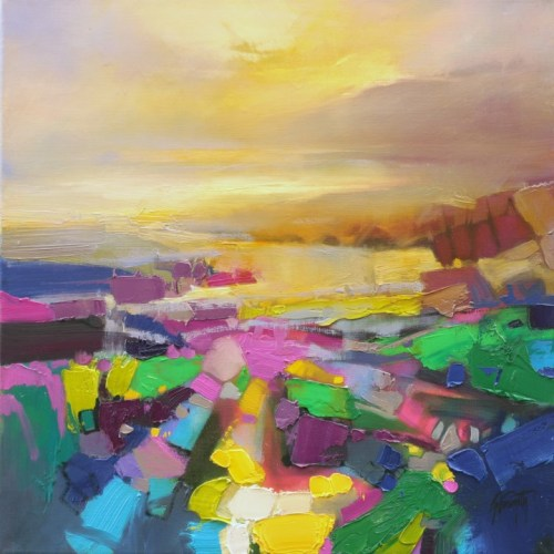 Optimism 2 abstract landscape painting by Scott Naismith