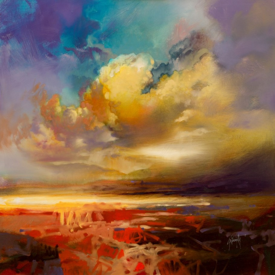 Silver Lining skyscape painting by Scott Naismith