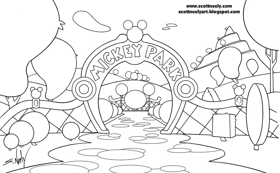 Mickey Mouse Clubhouse Drawings Sketch Coloring Page