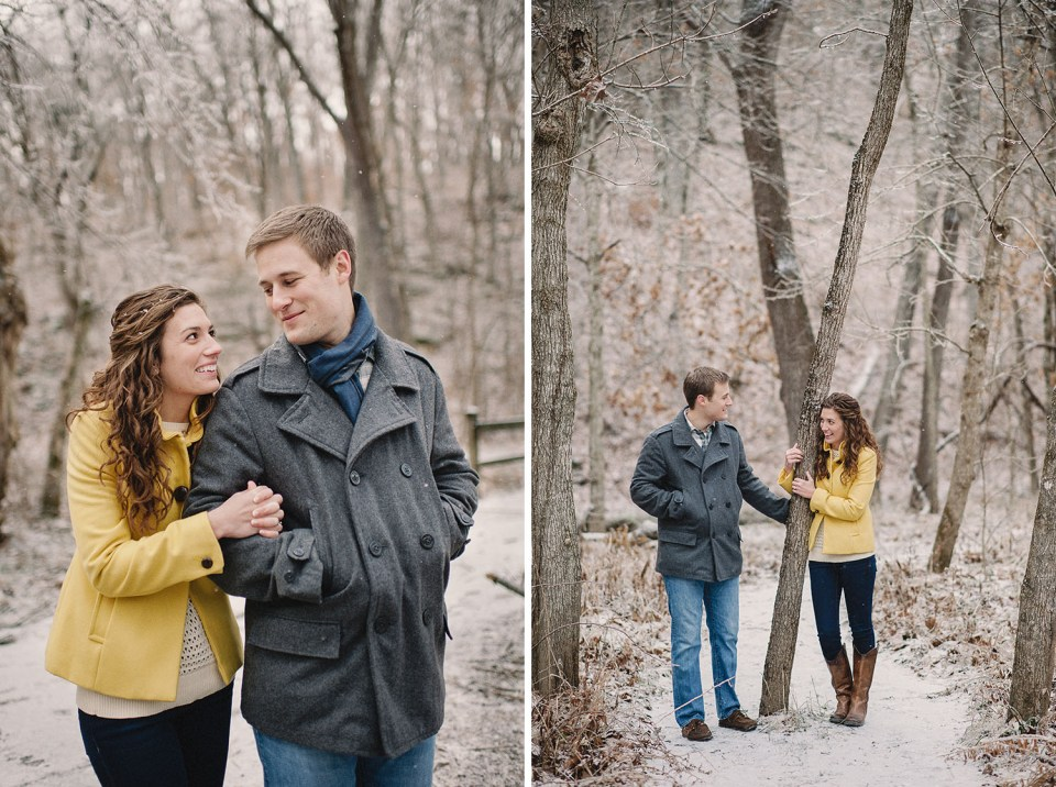 M.E. + Reed's Icy Winter Engagement Photographs