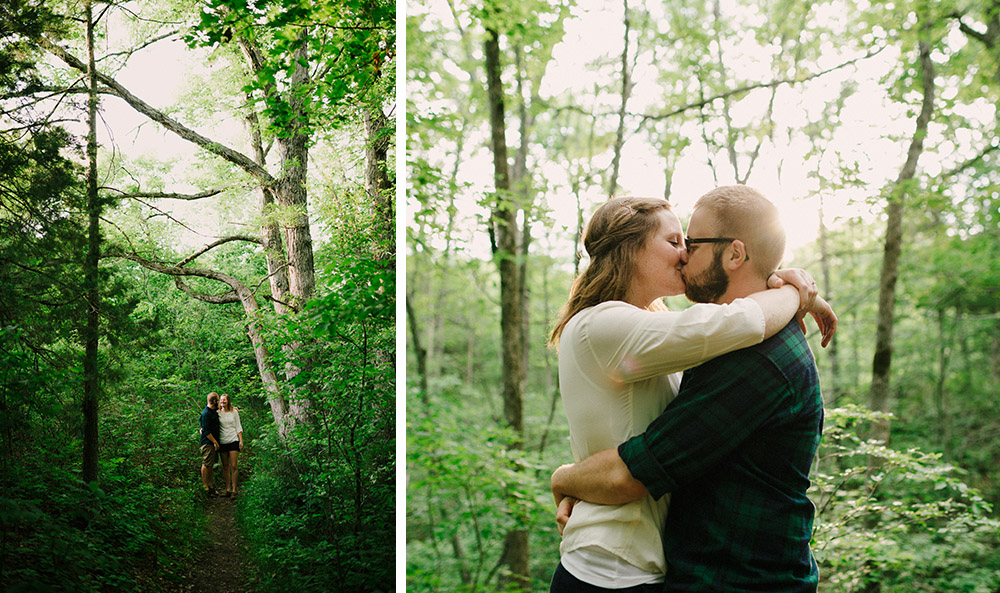Columbia Missouri Summer Forest engagment Alex and Staci 007