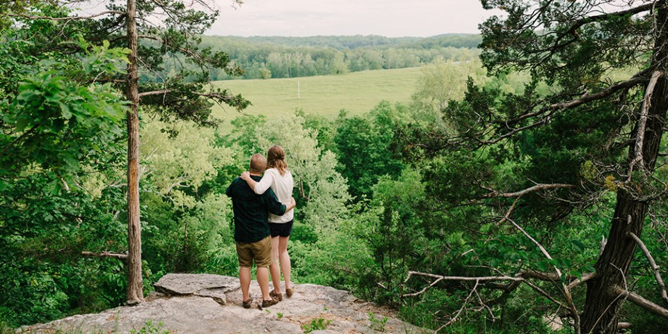 Columbia Missouri Summer Forest engagment Alex and Staci 011