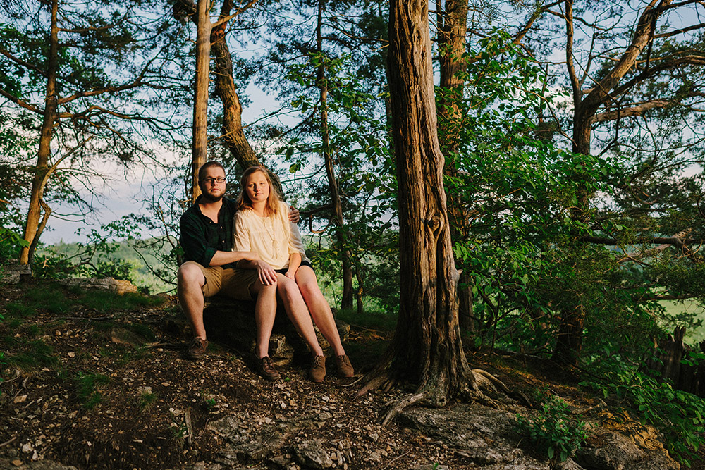 Columbia Missouri Summer Forest engagment Alex and Staci 015