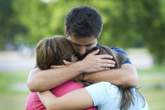 family-hug