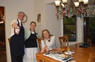 Elder and Sister Shaffer serving dessert