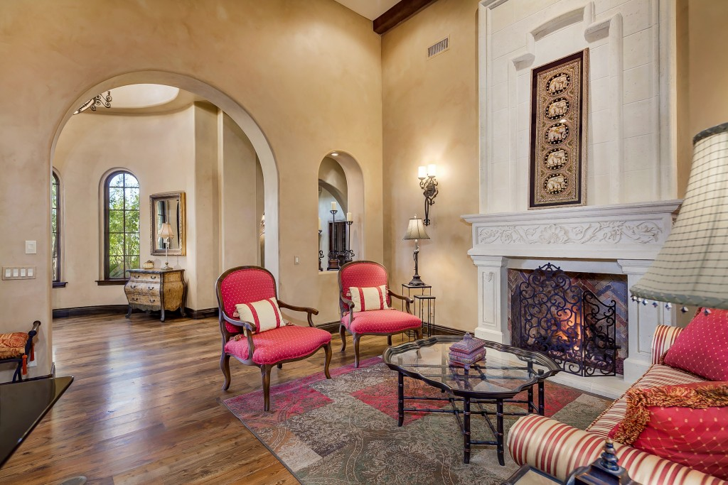 Spanish Colonial Estate Located In Silverleaf With A Rich Architectural Design