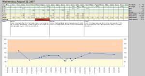 diabetes logbook in excel