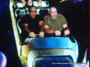 George & Scott on a roller coaster