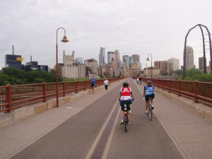 Minneapolis Skyline from Stone Arch Bridge