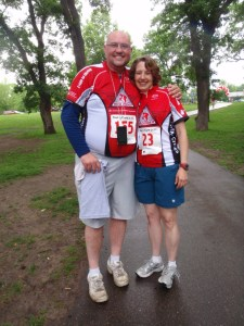 Image of Scott and Heather after the ride