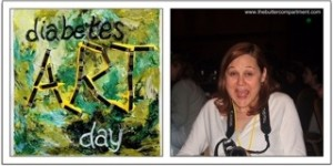 Collage of D-Art Day Logo and a shot of Lee Ann