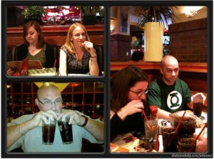 Picture of Melissa, Chris, Sara, Lee Ann and Scott at the restaurant.