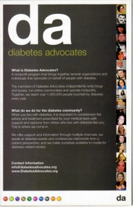 Front Cover of the Diabetes Advocate brochure