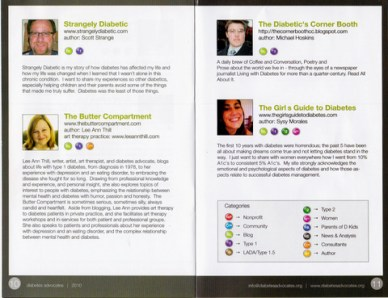 One of the inner pages of the Diabetes Advocates brochure