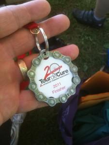 2011 Tour de Cure Finisher Medal