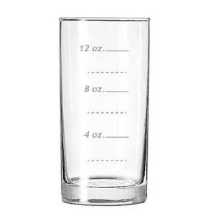 Marked Measuring Glass