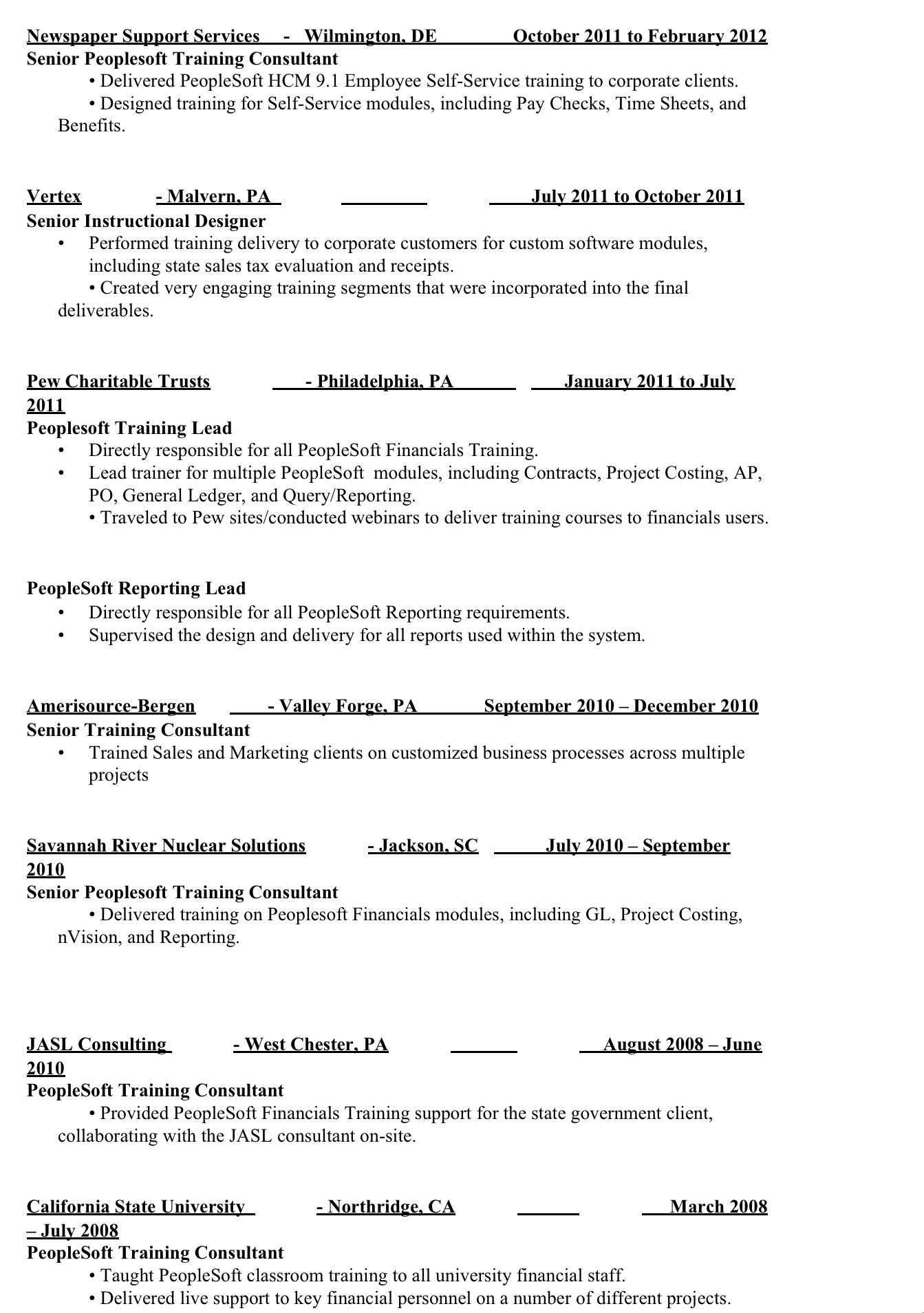 Instructional Designer Resume Template Senior Peoplesoft Instructional Designer Resume Let 39s