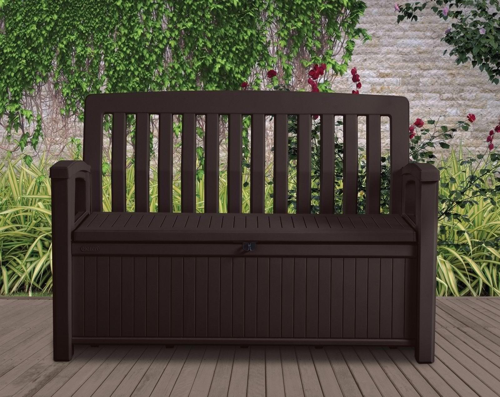 Patio Storage Bench Keter Outdoor Seat Garden Chair Box