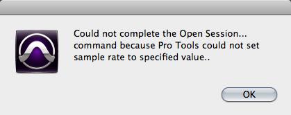 Pro Tools error