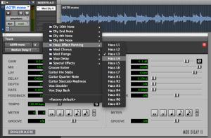 screenshot of Pro Tools session
