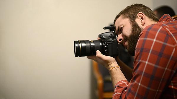 Chris on set