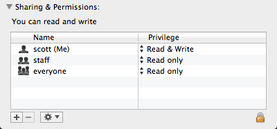 screen shot of Sharing & Permissions file metadata