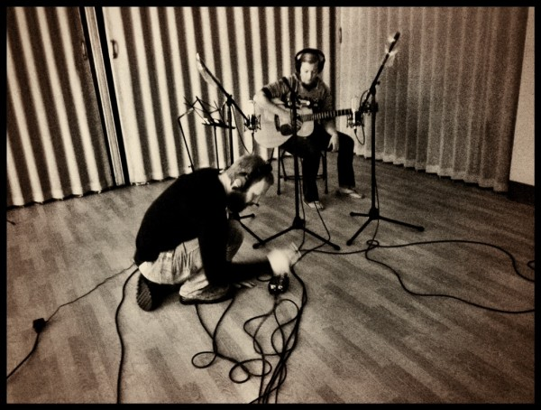 Autumn Ashley and Scott Troyer in the studio