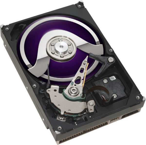 hard disk drive with Pro Tools logo as the platter