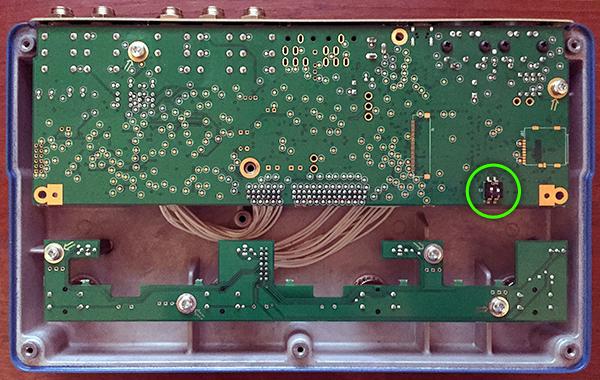 Interior photo of the Flashback X4's PCB.